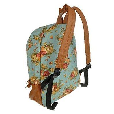 f85a658a323b Flower Floral Bag Schoolbag Bookbag Backpack for Women Girl Vintage Cute