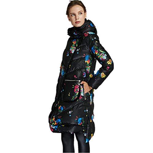 Chaud Garder Nouveaux Taille Capuchon En Grande Plus Duvet Créative Black Femmes Imprimée Vêtements Veste Rstj À Blue Au De sjc Poche Pour D'hiver Taille 8qFHF1w
