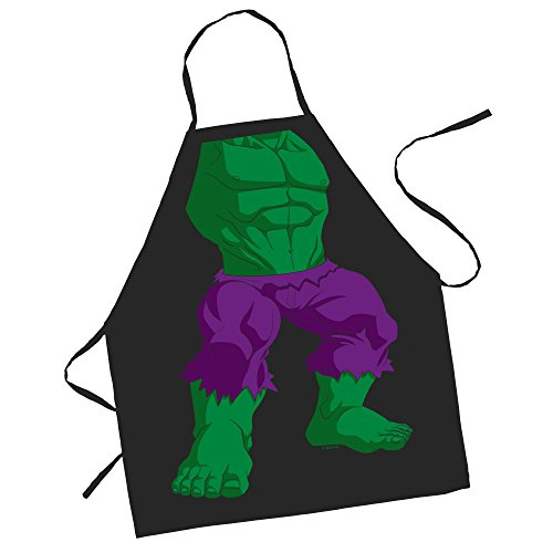 ICUP Marvel - The Incredible Hulk Character Kids 100% Cotton Black Apron