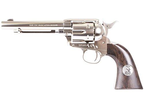 John Wayne Colt CO2 Pellet Revolver, Nickel air pistol by Colt