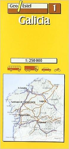 Galicia: Galicia Road Map 1:250, 000 Mapas de carreteras ...