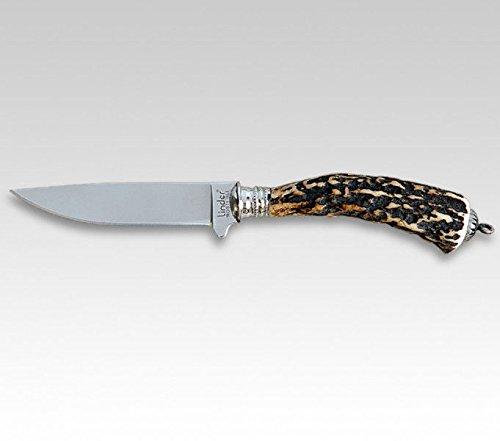 Linder Hirschhorn Trachtenmesser Klingenlänge 5, Länge Gesamt 12,4 Messer aus Solingen, Mehrfarbig, 12.4 cm