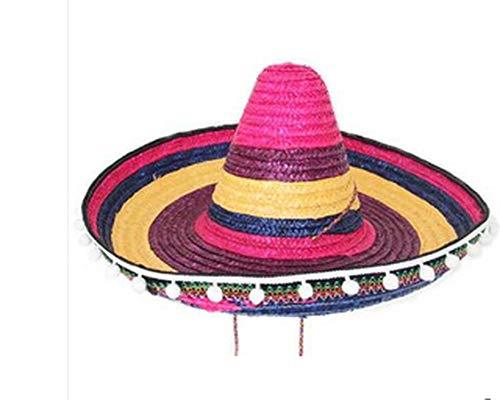 2019 Halloween Cosplay Costume Hawaii Mexico Big Large Brim Straw Hat Cap]()