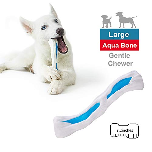 EETOYS Puppy Teething Toys Dog Chew Toys Aquabone Series for Gentle Chewers Promotes Dental Health Reduces Teething…