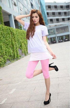 NEW Jeans donna Look Legging bambina Leggings pantaloni tubo