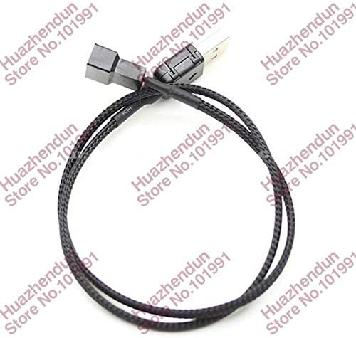 Cable Length: 100CM ShineBear 10PCS New USB A Male to Fan 3Pin 3 pin //4-Pin 4pin Adapter Cable with net for 5V 100CM 1M Cable