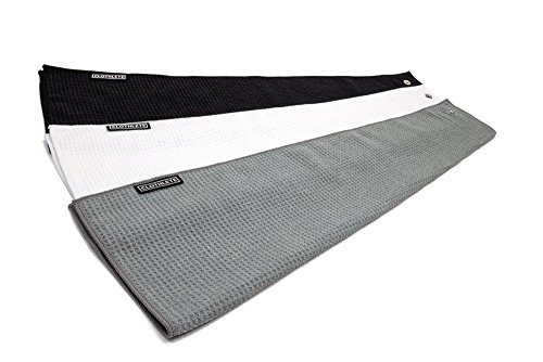 Clothlete Greenside Microfiber Golf Towel 16'' x 24'' - 3 Pack by Clothlete