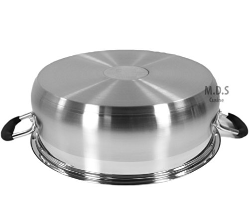 Low Pot 10Qt Stainless Steel Super Double Capsulated Bottom Stock Pot,Rice Pot,Big Low pot,Casserole,Olla,Cacerola,Dutch Oven