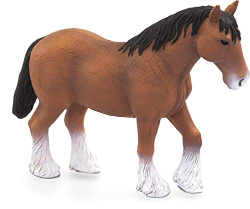 MOJO 387070 Clydesdale Horse Toy Figure, Multi-Colour