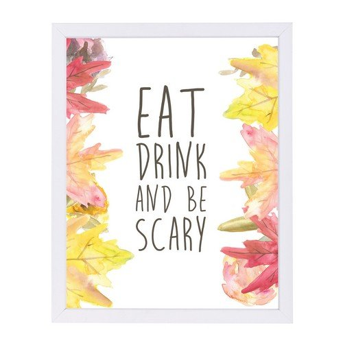 Americanflat Eat Drink and Be Scary Halloween White Frame Print by Jetty Printables 9
