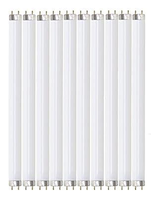 """Pack of 10 F32T8/741/ECO 32 watt 48"""" Straight F32 T8 Medium Bi-Pin (G13) Base, 4,100K Cool White Octron Fluorescent Tube Light Bulb"""