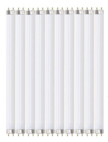 Pack of 10 F32T8/841 32 watt 48 Straight F32 T8 Medium Bi-Pin (G13) Base, 4,100K Cool White Octron Fluorescent Tube Light Bulb