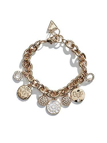 s Gold-Tone Enamel Heart Charm Bracelet ()