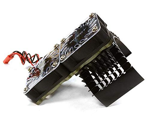 - Integy RC Model Hop-ups C23137BLACK Super Motor Heatsink+Twin Cooling Fan 750 for Traxxas Summit