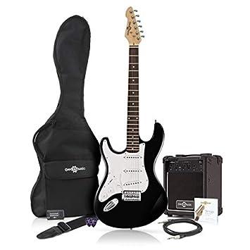 Guitarra Eléctrica LA Zurda + Paquete de Amplificador de 10 W Negro: Amazon.es: Instrumentos musicales