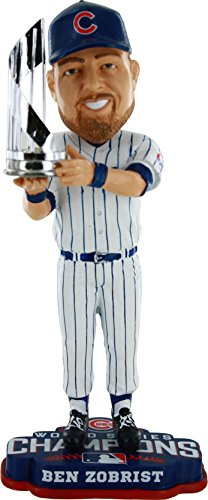FOCO MLB Chicago Cubs MVP Ben Zobrist Unisex 2016 World Series Champions Zobrist B. #18 MVP Bobble