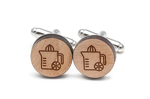 Wooden Accessories Company Juicer Cufflinks, Wood Cufflinks Hand Made in The USA