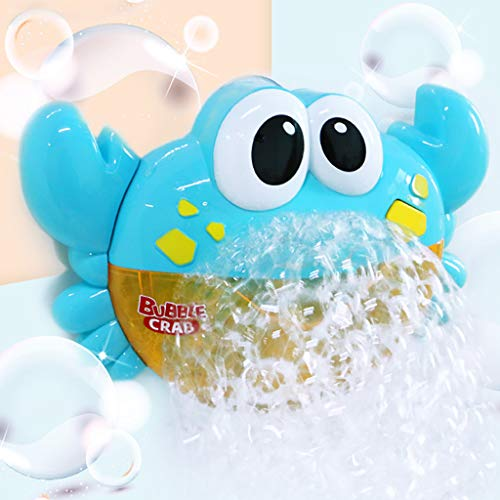 Bathing Toy, Bubble Machine Big Crab Automatic Bubble Maker Blower Music Bath Toy for Baby, Children's Day Gifts 2019 New (Blue) ()