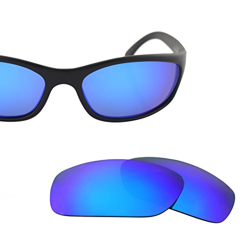 LenzFlip Polarized Replacement Lenses for Ray Ban RB4115 Fast & Furious - Gray Polarized with Blue Mirror - Bans Warranty Ray
