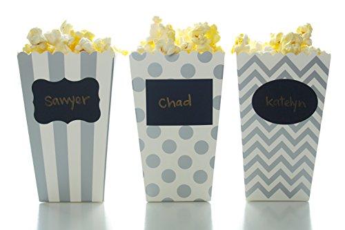 silver mini popcorn boxes - 4