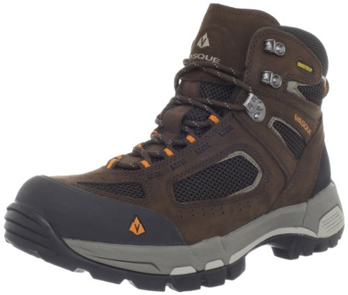 Vasque Men's Breeze 2.0 Gore-Tex Waterproof Hiking Boot, Slate Brown/Russet Orange,7.5 M US