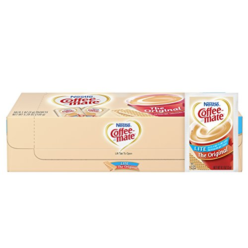 Free Coffee Coffee Mate Fat - Nestle Coffee-mate Coffee Creamer, Original Lite, 3g powdered packets, 50 ct (Pack of 20)