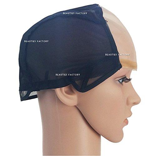 Beauties Factory DIY Wide Gap Mono Top Front U Part Weaving Wig Cap Net Foundation Base Cap - Mono Cap Wig