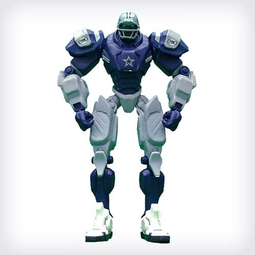 "Price comparison product image Dallas Cowboys 10"" Team Cleatus FOX Robot NFL Football Action Figure Version 2.0"