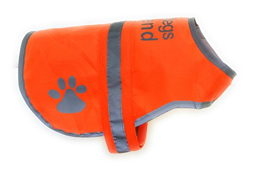 4legsfriend Safety Reflective Dog Vest (5 Sizes, Small) - High Visibility Outdoor Activity Day Night Keep Your Dog Visible, Safe from Cars & Hunting Accidents | Blaze Orange