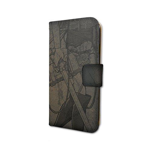 進撃の巨人Season 2 03 リヴァイ シルエットデザイン 手帳型スマホケース iPhone6/6S/7兼用