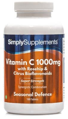 Vitamin C 1000mg with Rosehip & Citrus Bioflavonoid | Perfect Immune System Support | 180+180 (360) Tablets | Vegan…