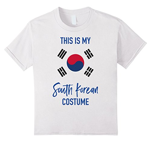 Un Costume Korea (Kids This is my South Korean Costume T-Shirt - Fun Halloween Tee 4 White)