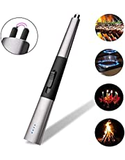 Portable Rechargeable Arc Lighter with USB Windproof Flameless Candle Lighter for kitchen barbecue candles fireworks gas stove