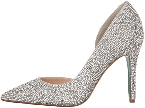Blue by means of Betsey Johnson Women's Sb-hazil Pump
