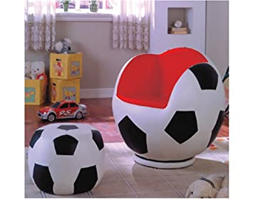 Super Amazon Com Kids Soccer Swivel Chair And Ottoman Kitchen Pdpeps Interior Chair Design Pdpepsorg
