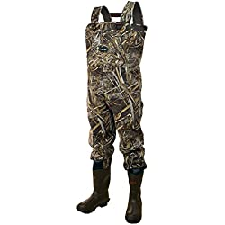 Frogg Toggs Amphib Neoprene Bootfoot Camo Chest Wader, Cleated Outsole, Realtree Max5, Size 12