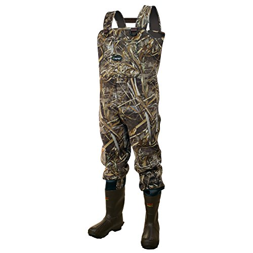 Frogg Toggs Amphib Neoprene Bootfoot Camo Chest Wader, Cleated Outsole, Realtree Max5, Size 9