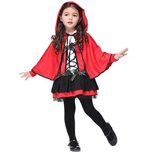 Riding Red Little Hood Costume Horse (Slocyclub Girls Sweet Red Riding Hood Toddler)