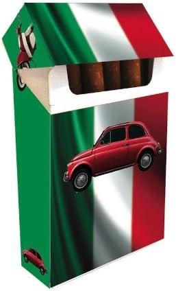 rot Zigarettenetui FIAT 500