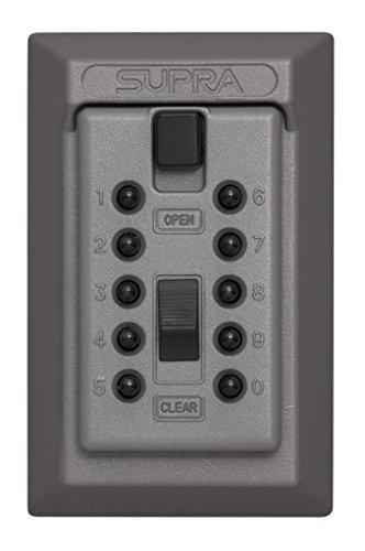 Kidde AccessPoint 001015 KeySafe Original Push Button Combination Permanent Key Lock Box, 5-Key, Titanium - Key Push Button