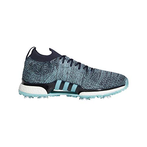 (adidas Men's TOUR360 XT Primeknit Parley Golf Shoe, Legend Ink/Blue Spirit/Silver Metallic, 10.5 Medium US)