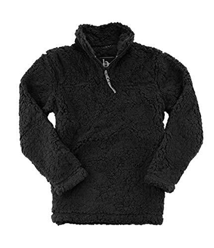 Boxercraft Adult Quarter Zip Sherpa Pullover-Black-Large ()