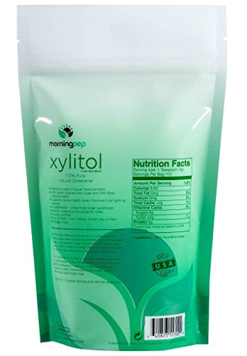 Morning Pep Pure Birch Xylitol (Keto Diet Friendly) Sweetener 1 LB (Not From Corn) NON GMO - KOSHER - GLUTEN FREE - PRODUCT OF USA. 16 OZ by Morning Pep (Image #1)