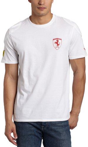 PUMA Men's Ferrari Logo Tee I, White