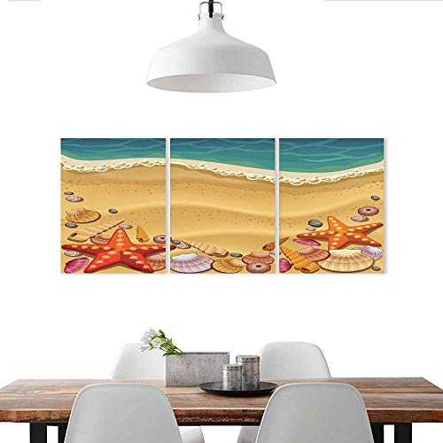Auraise-home Customize Wall Stickers Shells on The Beach Triple Art Stickers