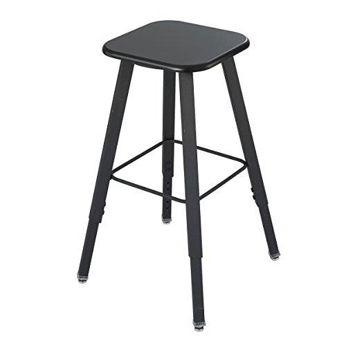 Safco AlphaBetter Stool - Black (seat);Black (frame) Computer, -