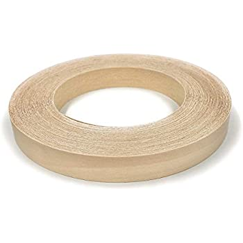 Wood Veneer Edge Banding Preglued Easy Application Made in USA Edge Supply Cherry 2 X 50 Roll Flexible Wood Tape Sanded to Perfection Iron on with Hot Melt Adhesive