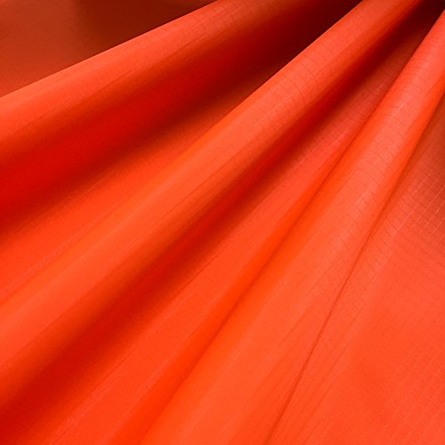 EMMAKITES Fluorescent Orange Ripstop Nylon Fabric 60