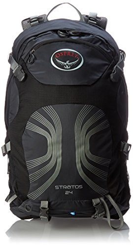 Osprey Packs Stratos 24 Backpack Anthracite Black MediumLarge