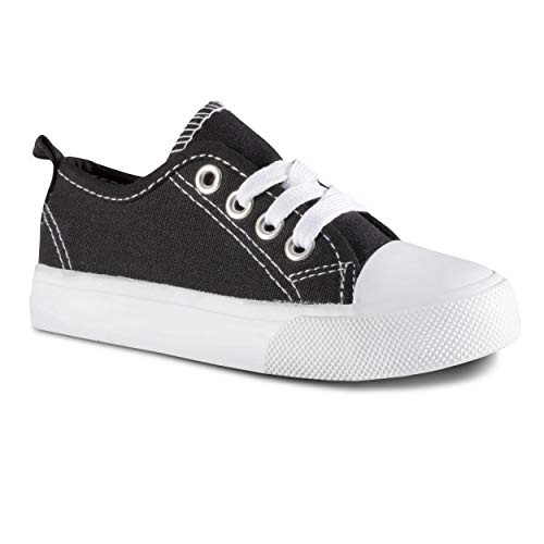 (ZOOGS Kid's Fashion Sneakers,Black/White,13 M US Little Kid)